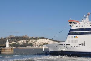 Spirit of France entering Dover 020212